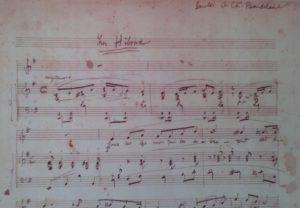 Déodat de Séverac, Les Hiboux, 1898 manuscript © (reproduced by permission from the Déodat de Séverac archives in Saint-Félix de Lauraguais)