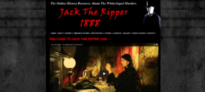 The opening page of a 'Jack the Ripper' website.