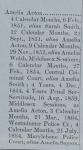 Another list of previous convictions, 1866 (LMA MJ/CP/B/13, 5 Nov 1866)