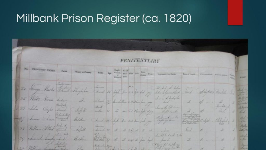 Millbank Prison Register