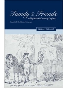 Family and Friends in 18th century England (book cover)