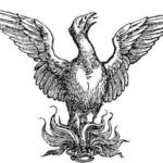 Society for Renaissance Studies logo. A phoenix rising from flames.