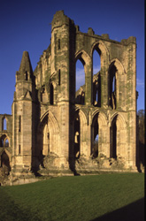 Remains of the east end of the abbey church at Rievaulx