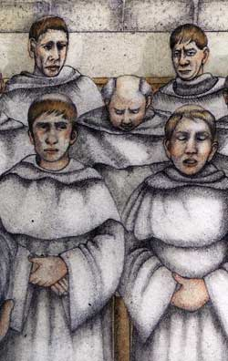 Artist's impression of the monks' choir