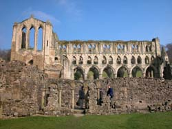 Reconstructed cloister arcading at Rievaulx