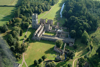 Aerial photograph of Fountains Abbey
