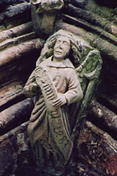 Angel with device of Darnton at Fountains