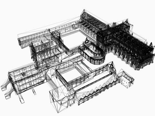 Wireframe model of Rievaulx