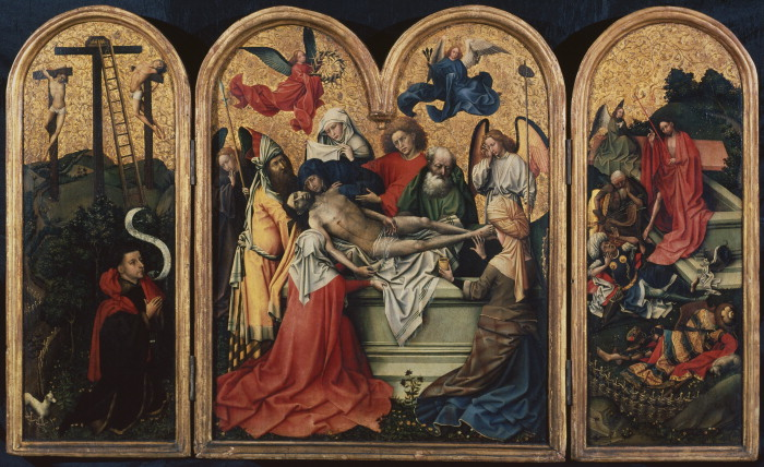 The Seilern Triptych - The Entombment