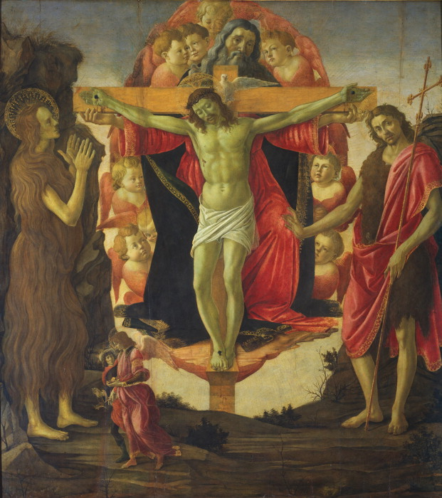 The Trinity with St Mary Magdalen and St John the Baptist, the Archangel Raphael and Tobias